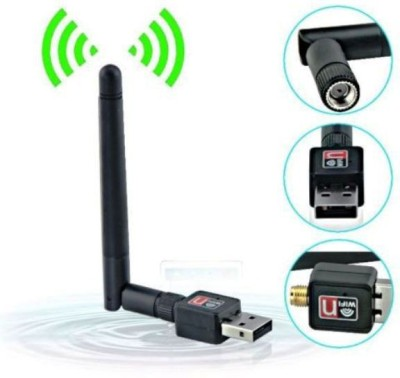 Generix Pro Mini Wifi Usb Adapter With Antenna External Ethernet Dongle USB Adapter Black