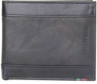 Peter England Men Black Genuine Leather Wallet(5 Card Slots)