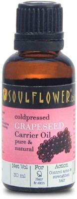 Soulflower Coldpressed Grapeseed Carrier Oil(30 ml)