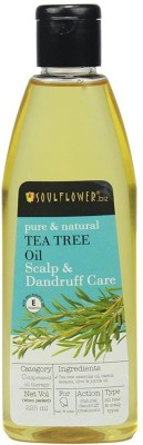 Soulflower Tea Tree Anti-dandruff and scalp care oil Hair Oil(225 ml)