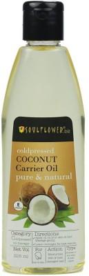 Soulflower Coldpressed Coconut Carrier Oil Hair Oil(225 ml)