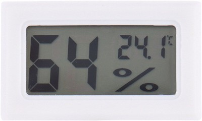 BalRama New Arrival Pocket Hygrometer Mini Small Digital Thermo Hygro Humidity Meter + Temperature Meter Tester Room Thermometer with LCD Panels Inline Connections + Built-in Detector Sensor Electronic Gauge Pinless Digital Moisture Measurer(10 mm)  available at flipkart for Rs.399