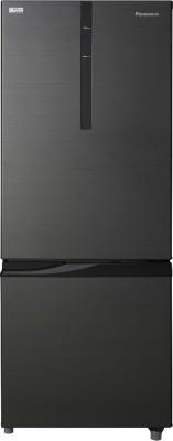 Panasonic 342 L Frost Free Double Door 2 Star Refrigerator(Black, NR-BR347RKX1)