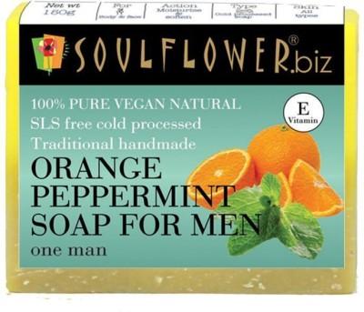Soulflower Orange peppermint soap for men(150 g)