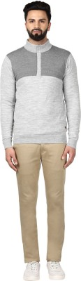 Raymond Solid Round Neck Round Neck Casual Men Grey Sweater at flipkart