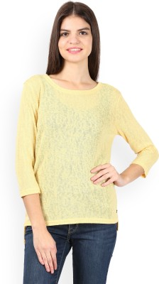 U.S.POLO ASSN Solid Round Neck Casual Women