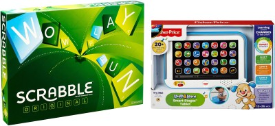 Fisher-Price Scrabble Original Board Game With Fisher Learning Tablet Board Game  available at flipkart for Rs.1699