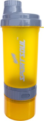 SportSoul Protein Shaker Bottle (with Storage Compartment with Pill Tray) 600 ml Sipper(Pack of 1, Multicolor)  available at flipkart for Rs.249