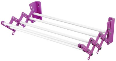 Bonita Wonderdry wall mounted dryer large-Purple Carbon Steel Wall Cloth Dryer Stand(Pink, White)  available at flipkart for Rs.1079