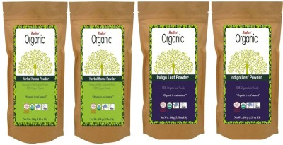 Radico 100% Organic Herbal Henna With Indigo Leaf Powder (Twin Pack)(Set of 4)  available at flipkart for Rs.780