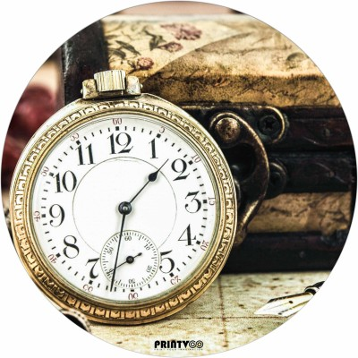 PrintVoo Vintage Clock Design Mousepad Mousepad(Brown)