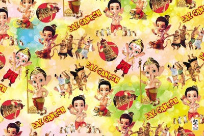 bal ganesh design sheet POSTER PRINT ON 13X19 INCHES Paper Print(19 inch X 13 inch, Rolled)  available at flipkart for Rs.180
