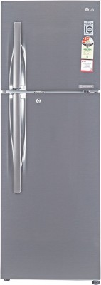LG 255 L Frost Free Double Door 3 Star Refrigerator(Shiny Steel, GL-Q282RPZY)