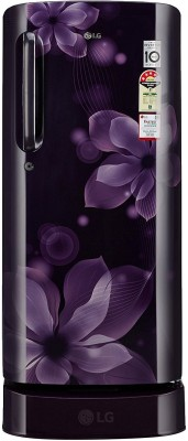 LG 190 L Direct Cool Single Door Refrigerator(GL-D201APOX, purple orchid, 2017)