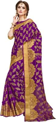 d6c28f7880 56% OFF on Taanshi Self Design Kanjivaram Silk Saree(Purple) on ...