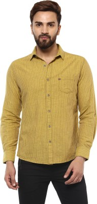 Mufti Men Striped Casual Yellow Shirt  available at flipkart for Rs.2099