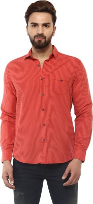Mufti Men Striped Casual Red Shirt  available at flipkart for Rs.2099