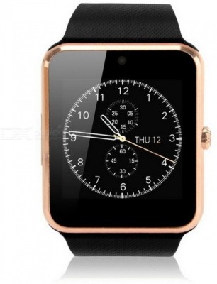MOBILE LINK A1.gldn_sv.441 phone Gold Smartwatch(Brown Strap Free Size)