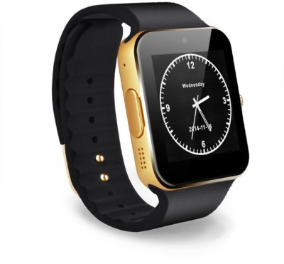MOBILE LINK panason.ic compatible bluetooth smartwatch with camera,sim-card slot and memory card slot Gold Smartwatch(Brown Strap Free Size)