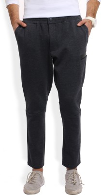 United Colors of Benetton Solid Men Grey Track Pants at flipkart