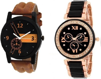 PMAX 2GOLDEN SILVER BLACK AND IIK SILVER GOLD NEW STYLISH FOR Watch  - For Men & Women