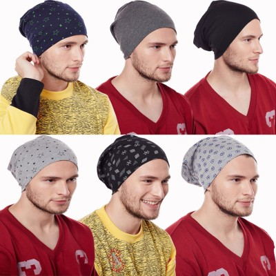 Vimal Solid Beanie Cap Cap(Pack of 6)