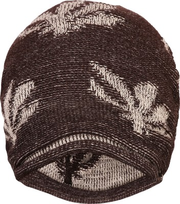 FabSeasons Self Design Unisex Brown Acrylic Woolen Slouchy Beanie and Skull Cap for Winters Cap