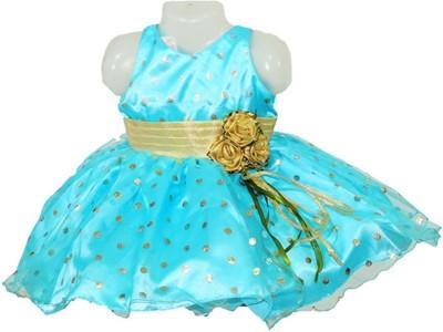 Firozee Dresses Flared Gown(Light Blue)