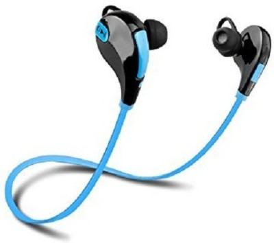 ZIKANI TASTE OF YOURS Z5 Dual Compatible Certified Qs-811 Bluetooth Headphones With Mic (High Treble And Bass Sound) With Calling Functions ( Blue ) Wired Headset with Mic(Blue, Black, In the Ear)