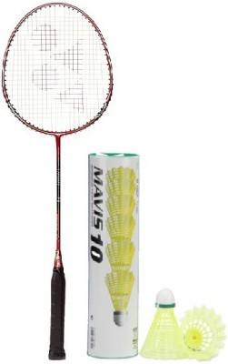 Yonex Combo of Two One 'Carbonex 7000 Ex' Badminton Racket and One Box 'Mavis-10' Shuttle cock (Pack of 6) (Color on availability) Badminton Kit  available at flipkart for Rs.1925