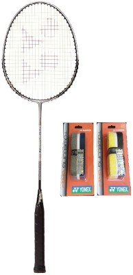 Yonex Combo of Three One 'Carbonex 6000 Ex' Badminton Racket and Two 'Ac 204 2 T T' Badminton Grips (Color on availability) Badminton Kit  available at flipkart for Rs.1999