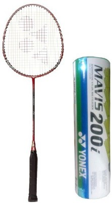 Yonex Combo of Two One 'Carbonex 7000 Ex' Badminton Racket and One Box 'Mavis-200i' Shuttle cock (Pack of 6) (Color on availability) Badminton Kit  available at flipkart for Rs.1745