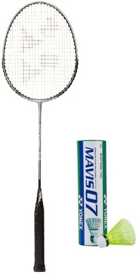 Yonex Combo of Two One 'Carbonex 6000 Ex' Badminton Racket and One Box 'Mavis-07' Shuttle cock (Pack of 6) (Color on availability) Badminton Kit  available at flipkart for Rs.2120