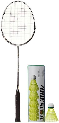 Yonex Combo of Two One 'Carbonex 6000 Ex' Badminton Racket and One Box of 'Mavis-300i' Shuttle cock (Pack of 6) (Color on availability) Badminton Kit  available at flipkart for Rs.2120