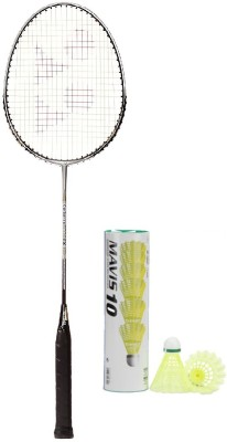 Yonex Combo of Two One 'Carbonex 6000 Ex' Badminton Racket and One Box 'Mavis-10' Shuttle cock (Pack of 6) (Color on availability) Badminton Kit  available at flipkart for Rs.2180