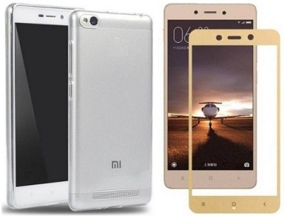 7Rocks Cover Accessory Combo for Xiaomi Redmi 5A Gold,Transparent