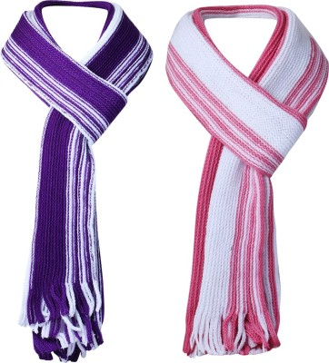 Amour Propre Striped Men's & Women's Muffler(Pack of 2)
