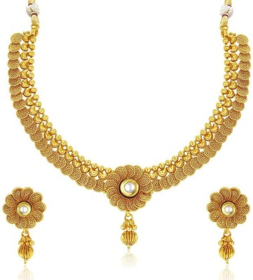 0d8e7e331 Meenaz Meenaz Jewellery Gold plated Jewellery Set for women with Ear rings  for girls Traditional One