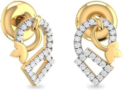 PC Jeweller The Dedrik Yellow Gold 18kt Diamond Stud Earring