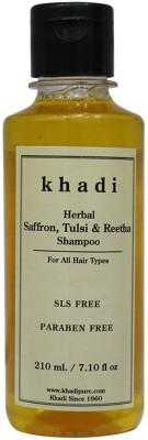 Khadi Herbal Saffron, Tulsi & Reetha Shampoo SLS-Paraben Free(210 ml)