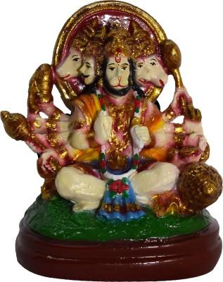 SUNNY CORPS Panchamukhi Hanuman Gift Statue Idoil Showpiece  -  9 cm(Polyresin, Multicolor)  available at flipkart for Rs.390