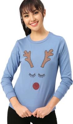 Dressberry Full Sleeve Self Design Women Sweatshirt Dressberry Women's Sweatshirts