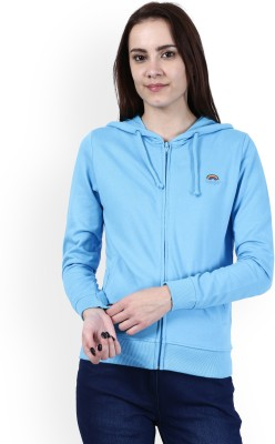 Wrangler Full Sleeve Solid Women Sweatshirt at flipkart