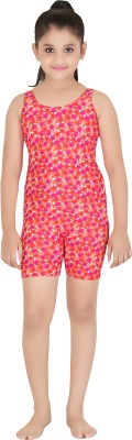 Fashion Fever Floral Print Girls Swimsuit
