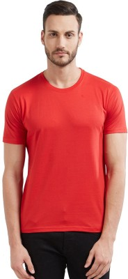 Wear Your Opinion Solid Men's Round Neck Red T-Shirt