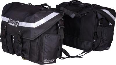 DIRTSACK Longranger Pro waterproof saddle bag Double side Black Fabric Motorbike Saddlebag 24 L DIRTSACK Bike Luggage Bag   Box