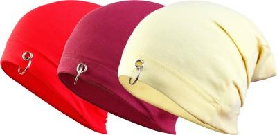 waymakers Solid skull cap, beanie cap, winter cap, fashion cap, plain cap, ring cap Cap(Pack of 3)