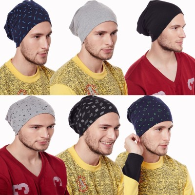 Vimal Printed Beanie Cap Cap(Pack of 6)