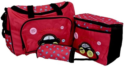 Baby Bucket 4Pcs Mummy Tote Baby Nappy Diaper Changing Bags Sets Diaper Bag Red Baby Bucket Diaper Bags