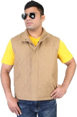 Bare Skin Sleeveless Solid Men Jacket